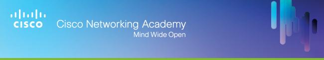 Cisco Networking Academy banner