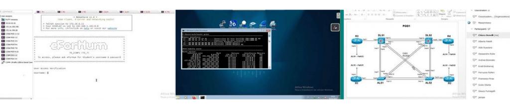 Topologia di laboratorio netflow approfondito nel webinar cisco ccnp