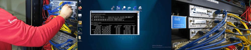 CCNA 8 motivi per iscriverti in eForHum: laboratori reali, router e switch in rack