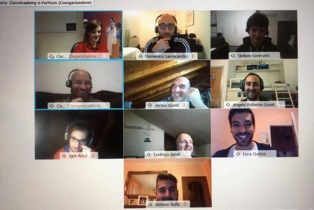 Avvio Corso CCNP ENCOR: Istruttore Cisco, Advisor e corsisti durante la prima lezione